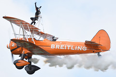 Breitling Wing Walkers (scottr99) Tags: bigginhill2017 festivalofflight breitlingwingwalkers breitling wingwalker airshow aircraft biplane