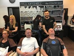 Tor Erling and Kjell getting a Balkan cut, Belgrade!