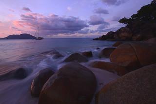 Sunset on nudey beach