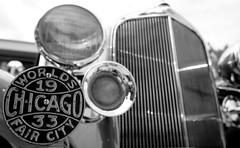 Car Show, Warrenville. 5 (X70) (Mega-Magpie) Tags: fuji fujifilm x70 outdoors warrenville summer daze car show dupage il illinois usa america bw black white mono monochrome old 1933