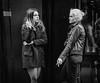 Carnaby Street smokers (jonron239) Tags: women girls talking smoking cigarette brunette longhair shortcoat tights gesture expression blonde leatherjacket jeans