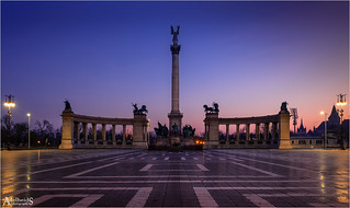 Early morning at Heroes Square, Budapest