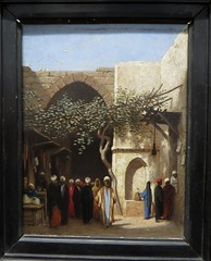 """""""Entrée de bazar à Damas"""", Charles Théodore Frère,dit Frère-Bey (1814-1888), Musée des beaux-Arts, Pau, Béarn, Pyrénées Atlantiques, Aquitaine, France."""