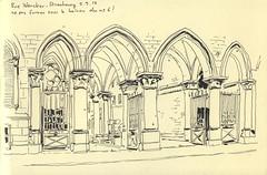 Rue Wencker - Strasbourg (lolo wagner) Tags: strasbourg sketch poste neustadt croquis usk urbansketchers