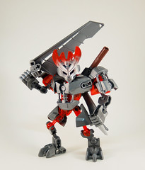 Past Protector of Iron (0nuku) Tags: bionicle lego 2015 protector villager steel iron knockoff bootleg