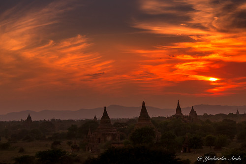 Sunset Shwesandaw Pagoda Bagan