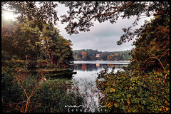 Amtssee - Chorin (Krueger_Martin) Tags: water see lake amtssee chorin natur nature autumn fall herbst colorful bunt farbig hdr photomatix weitwinkel wideangle germany deutschland canoneos7d canonef1635mmf4lis reflection reflex spiegelung