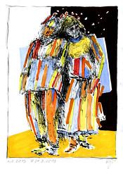 Wolfram Zimmer: Dreamers - Träumer (ein_quadratmeter) Tags: wolframzimmer bilder kunst malerei gemälde wolfram zimmer konzeptkunst objektkunst mein freiburg burg birkenhof kirchzarten ausstellung ausstellungen peinture exhibition exhibitions zeichnung tusche besen ink broom besom
