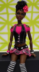 Love this girl! <3 (Doll Affinity) Tags: barbie doll alternative pink punk rock stripes
