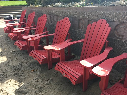 Beach chairs in Osoyoos