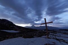 Lötschenpass blue hour (eichlera) Tags: swissalps switzerland valais wallis lötschenpass cross pass clouds wideangle bluehour sunrise dawn bietschhorn