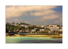 Guernsey, Channel Islands (williamwalton001) Tags: pentaxart path borders buildings water weather woodlands sun|sky|cloud harbour house hillside beach sands trees texture seaside awardtree greenscene