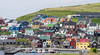 Cutting the grass for winter (Ralph Green) Tags: faroeislands nólsoy boats colorfulhouses colourfulhouses grass grasscutting houses people
