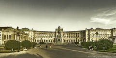 Hofburg Palace - Front view (A look through lens) Tags: streetlife architecture austria castle cityscape europe landscape lightroom location memorial object people plugin square street streetlamp streetphotography streetview tonemapping topazrestyle urban urbanlife urbanphotography urbanview urbanscape vienna wien at