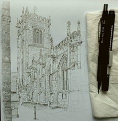 Slow progress on a York church