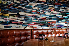 Another B..k in the Wall (Мaistora) Tags: books bricks wall surround private privacy table comfort comfortable restaurant bar cafe club intelligent intellectual literary literature warm comfy masonry design interior color colour colourful light dark dining dinner drinks meeting chat conversation debate discussion discourse friendly london england britain uk sony alpha ilce a6000 dxo optics lightroom sel24f18za zeiss
