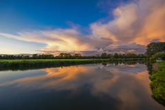 View on the way home (gopper) Tags: riverthames thames reflection storm stormy nikon d7100 sigma 10mm 1020mm ngc lechlade sunset scenic scenery cloud cloudy golden quiet serene drive driven gloucestershire swindon buscot calm cotswold cotswolds wiltshire oxfordshire uk british