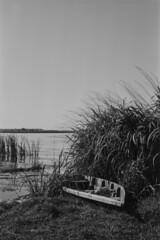 Tsybli (serhiy.sereda) Tags: river water boat old vintage pentax mx ilford film rodinal bw monochrome