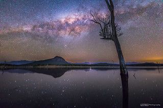 Milky Way setting over Lake Moogerah
