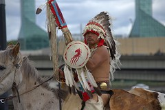 Brave (swong95765) Tags: indian brave horse ride parade outfit traditional bareback rider