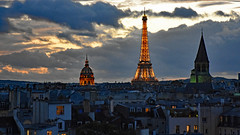 Paris at Dusk (starbuck77) Tags: sky sunset dusk paris france nikon d7200 eiffeltower toureiffel napoleon napoleonstomb