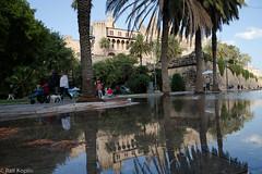 Palma de Mallorca after the rain (ralfkoplin) Tags: mallorca mirror palma rain shower sommer street summer illesbalears spanien