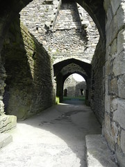 Beaumaris Castle (daveandlyn1) Tags: castle anglesey beaumaris northwales archways s9100 coolpix nikon