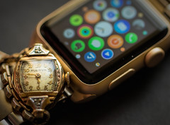 Evolution (TuthFaree) Tags: gold time evolution macromonday watch antique bulova apple smartwatch digital analog contrast thenandnow