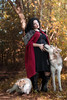 Untitled (Sarah Brigham) Tags: animals autumn fall natural nature wild wildlife wolf wolves woods outdoors photography image real wilderness nikon nikond5200 color wildlifephotography model woman girl mother pregnant pregnancy maternity redridinghood littleredridinghood posing season seasonal brunette witch enchantress goth gothic punk beautiful goldenhour warm pair pack friends lovers together meadow forest