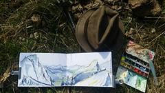 Du Col de Sevan, Chatel (Croctoo) Tags: croctoo croctoofr croquis aquarelle watercolor savoie hautesavoie montagnes