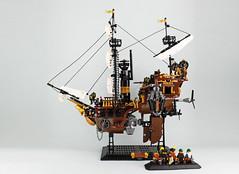 Dwarves' Airship (bricks.life.idea) Tags: lego airship skyboat steampunk dwarves