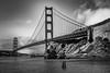 Golden Gate Bridge (D E Pabst Photography) Tags: california blackandwhite sanfrancisco goldengate bay monochrome horseshoebay seascape marincounty marine bridge