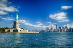 Statue of Liberty in New York City (` Toshio ') Tags: toshio nyc newyorkcity manhattan statueofliberty libertyisland newyork usa america harbor fujixe2 xe2