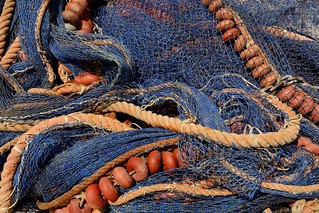 Trapani / Italy / Fishing nets drying on the dock   6/6