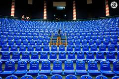 después del espectáculo (Jose L. Ruiz) Tags: teatro asientos vacío blue azul guatemala cámara graderío show empty