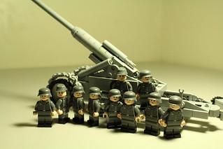 17cm Kanone 18 in Mörserlafette