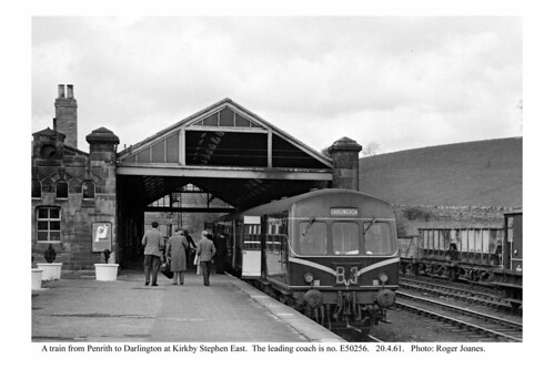 Kirkby Stephen East. Train for Darlington. 20.4.61