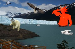 Mutant Monte Chilling at the Lake 8 20 2017 (Monte Mendoza) Tags: ua bicep iceberg ice boat eagle jet airplane mutant mutation icewall flex flexing