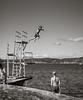 Jump/Dive (Poul_Werner) Tags: henån orust sverige sweden ferie hav ocean sea sommerferie summerbreak summervacation svimming svømning västragötalandslän se blackwhitephotos