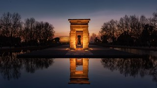 Reflejos en el templo de Debod...