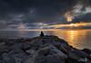 waiting...(Cape Charles, VA) (Z!@) Tags: capecharles chesapeakebay virginia sunset seascpae landscape clouds stone virginiatourism lakeshore