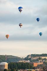 Balloons and the Bridge (Baker_1000) Tags: 2017 bristol bristolinternationalballoonfiesta bristolballoonfiesta balloonfiesta balloonfestival balloon fiesta hotairballoon summer morning dawn nikon d90 nikond90 raw