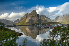 Reine, Lofoten Norway (ruminate) Tags: 2016 lofoten lofotenislands mountains nikon nikond90 norway ocean reine rorbuer scandanavia sea travel water fjord hiking outdoors reflections seascape arctic northof60
