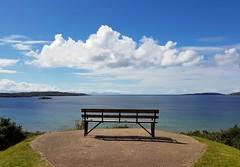 Sky over Skye (katy1279) Tags: emptyseatblueskyskyewhitecloudbeautifuldayseatwithaviewhorizon