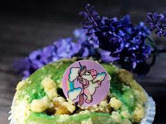 Einhorn - Muffin (ingrid eulenfan) Tags: essen dessert muffin einhorn süsigkeiten süs