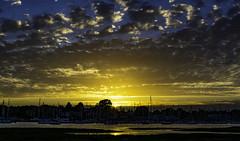Hamble Sunset 2 31072017 (chris.willis3) Tags: sunset clouds outside trees masts hamble uk hampshire evening blue orange chriswillis3 nikond5200 summer water
