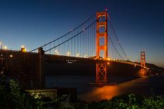 Golden Gate Bridge - San Francisco (kinchloe) Tags: sanfrancisco ca california bridge goldengate goldengatebridge architecture bluehour dusk water
