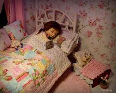 Sweet Dreams (TutuBella) Tags: pukifee fairyland doll vanilla emmi daisydayes piggy pig daphne sleeping bedtime bedroom quilt sweetdreams goodnight zzzzzz needlefeltedbunny