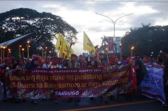 UP Community welcomes back Indigenous and Moro people in Kampuhan sa Diliman 2017 (Fred Dabu) Tags: lakbayan lakbayanngpambansangminorya sandugo kampuhansadiliman diliman saveourschools