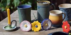 Night lighter (petrOlly) Tags: europe europa germany deutschland pottery toepfermarkt moenchengladbach rheydt schlossrheydt schloss handmade object objects flower flowers